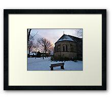 Sunset on the Parish . Framed Print