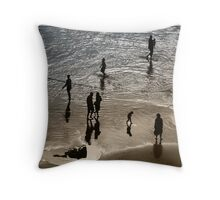 Sea Stroll Throw Pillow