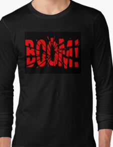 Cartoon BOOM by Chillee Wilson Long Sleeve T-Shirt