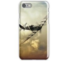 Spitfire Passing Through The Storm  iPhone Case/Skin