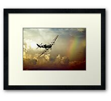 Spitfire Passing Through The Storm  Framed Print