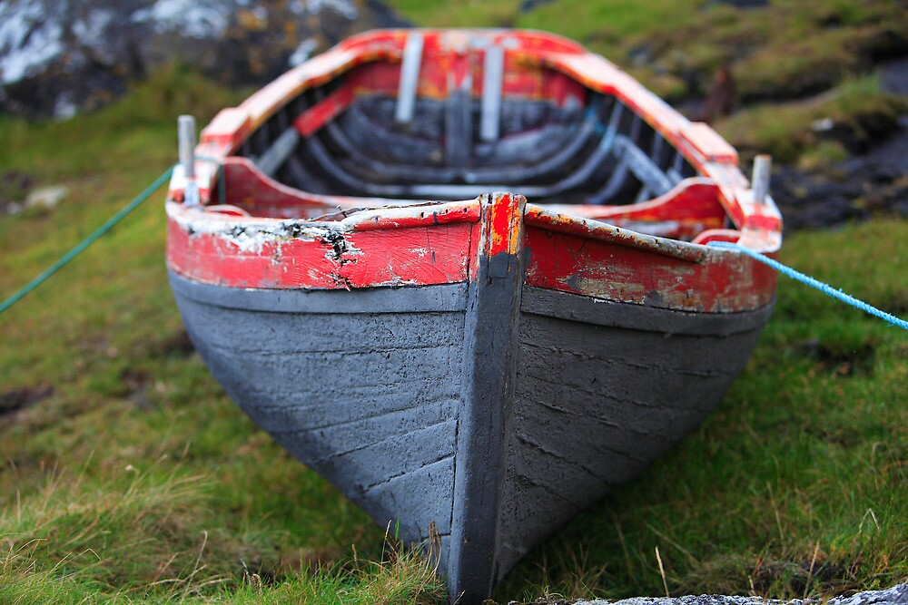 Traditional Currach Fishing Boat . Ireland by EUNAN SWEENEY