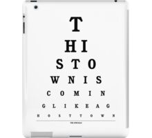 The Specials - Ghost Town Eye Chart iPad Case/Skin