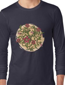 Summer illustration with flowers Long Sleeve T-Shirt
