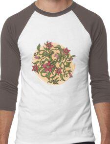 Summer illustration with flowers Men's Baseball ¾ T-Shirt