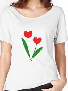 Tulip Hearts Women's Relaxed Fit T-Shirt