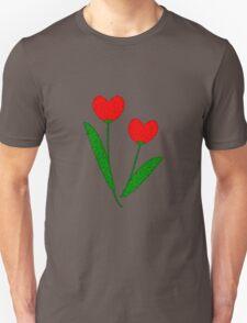 Tulip Hearts Unisex T-Shirt