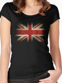 Grungy Union Jack Women's Fitted Scoop T-Shirt