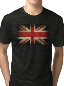 Grungy Union Jack Tri-blend T-Shirt