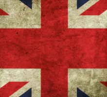 Grungy Union Jack Sticker