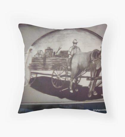 Anson Texas Mural Detail Throw Pillow