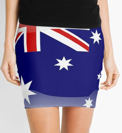 Australian Flag Icon Mini Skirt