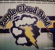 Munday Texas Mural for Purple Cloud Band by Billy Ines