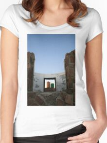 View from the Safari Disco Club  Women's Fitted Scoop T-Shirt