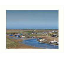 Blakeney Harbour North Norfolk Art Print