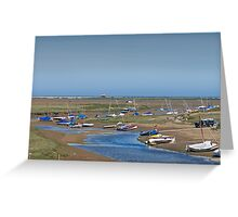 Blakeney Harbour North Norfolk Greeting Card