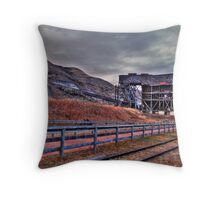Abandoned structures Throw Pillow