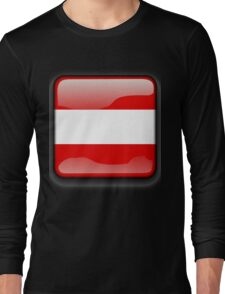 Austria Flag Icon Long Sleeve T-Shirt