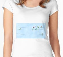 Little Birds Women's Fitted Scoop T-Shirt