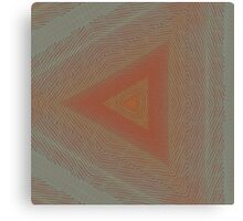 Geode Abstract:  Triangle Nature Pattern in Rust Red and Stone Grey 2 Canvas Print