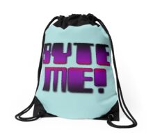 BYTE ME! by Chillee Wilson Drawstring Bag