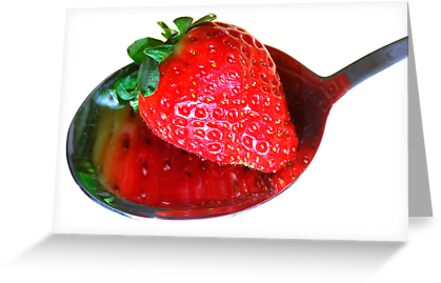A spoonful of strawberry by Heather Thorsen