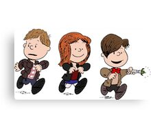Doctor Who and Amy Pond Canvas Print