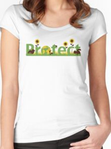 Protect our planet Women's Fitted Scoop T-Shirt