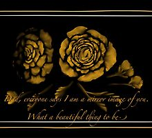 Father's Day ~ Yellow Rose by Lenita Curry