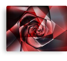 Abstract Spiral Rose Canvas Print