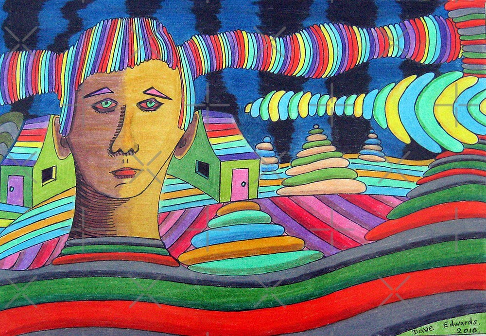 288 - PART OF THE SCENERY - DAVE EDWARDS - COLOURED PENCILS & FINELINERS - 2010 by BLYTHART