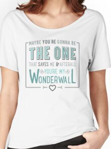 Wonderwall - Oasis - Typography Women's Relaxed Fit T-Shirt