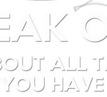 Freak Out and Procrastinate (White) Sticker