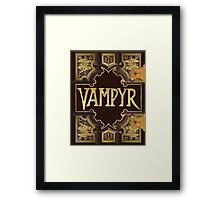 Vampyr Book - Buffy the Vampire Slayer Framed Print