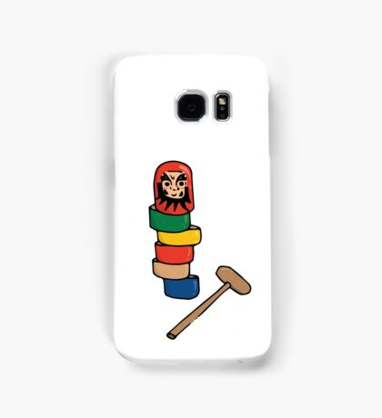 Japanese Daruma Otoshi (Plain Background) Samsung Galaxy Case/Skin