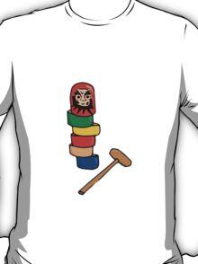 Japanese Daruma Otoshi (Plain Background) T-Shirt