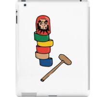 Japanese Daruma Otoshi (Plain Background) iPad Case/Skin