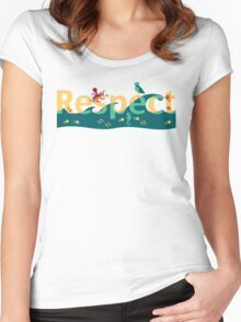 Respect our planet Women's Fitted Scoop T-Shirt
