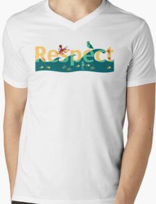 Respect our planet Mens V-Neck T-Shirt