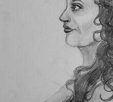 Profile of a woman. by Jasmin Witham