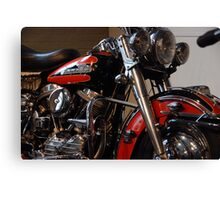 The motorcycle as art: Harley - Davidson FLH (1958) Canvas Print