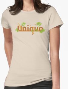 Unique planet safari design Womens Fitted T-Shirt