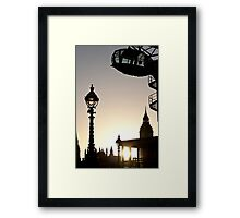 Dusk in Westminster Framed Print