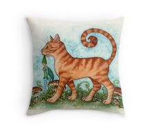 What The Cat Dragged In... Throw Pillow