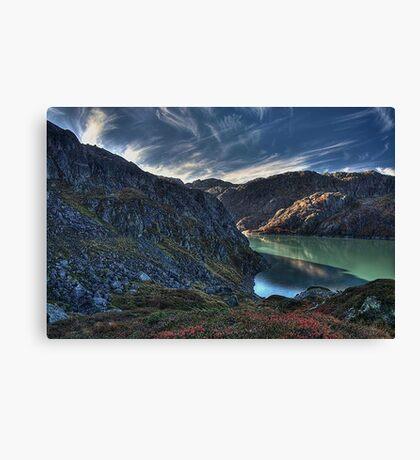 Blue valley Canvas Print