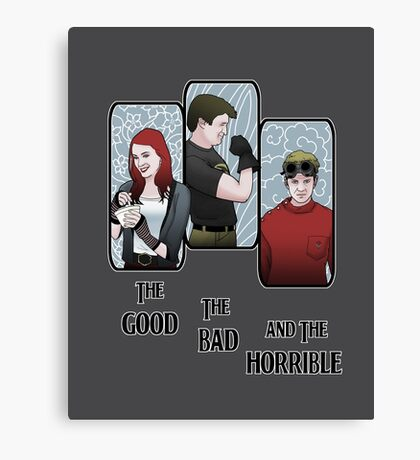 The Good, The Bad, and the Horrible Canvas Print