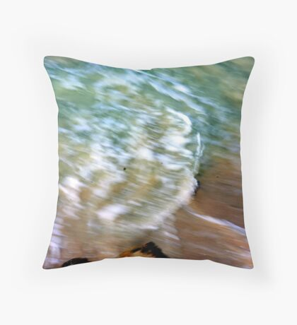 Beauty of moving sea water... Throw Pillow