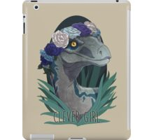 Clever Girl - Blue iPad Case/Skin