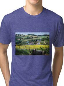 Midsummer Smoke In An English Valley Tri-blend T-Shirt