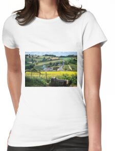 Midsummer Smoke In An English Valley Womens Fitted T-Shirt